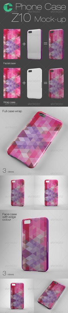 Phone case mock-up – BB Z10 – 2d and 3d sublimation cases Download: http://graphicriver.net/item/phone-case-mockup-bb-z10/8072575?ref=ksioks