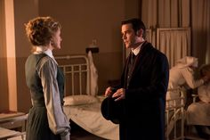 Ogden (Hélène Joy) and Murdoch (Yannick Bisson) discuss Fen. Chris Halliwell, Murdock Mysteries, Detective Shows, Great Stories, Bbc, Mystery, Tv Shows, Calendar, Fictional Characters