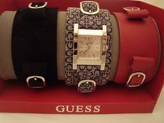 GUESS Interchangeable Cuff Watches! So cute.