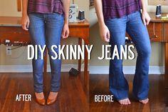 DIY: skinny jeans