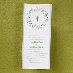 Season's Joy Invitation - Holly I like this invitation.  I know it's not super formal, but it has pretty colors and it's seasonal.