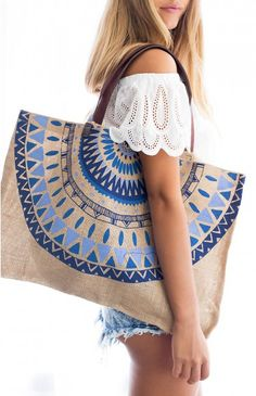 What better & stylish way then this tote to carry around your towel, book & other accessories!