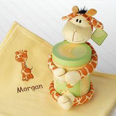 Jo Jo Giraffe Plush Toy and Blanket Gift Set