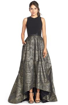 MUST HAVE - omg Theia Jacquard Ballgown available at #Nordstrom