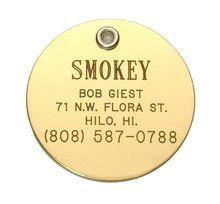 Large Brass Pet ID Tag