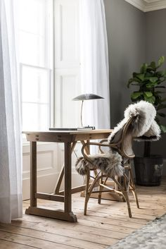 """Killiehuntly Farmhouse and Cottages: A Luxurious Retreat with a """"Scandi-Scot"""" Interior by a Danish Billionaire (Nordic Design) Workspace Inspiration, Interior Inspiration, Design Inspiration, Study Room Decor, Luxury Chairs, Luxury Office, Farmhouse Interior, Farmhouse Desk, Farmhouse Style"""