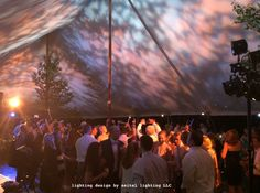 Williamstown sailcloth tent with gobo uplighting by Seitel Lighting LLC Wedding Tent Lighting, Tent Wedding, Sailing Outfit, Interior Design Magazine, Garage Design, Lighting Design, Wedding Decorations, Interior Decorating, Wedding Inspiration