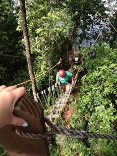 #Ziplining.  Hacienda Campo Rico in Carolina , Puerto Rico.