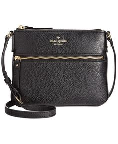 Ease into the weekend with this chic crossbody design from kate spade new york, crafted from soft and supple pebbled leather and finished with signature gold-tone hardware. | Imported | Pebble leather