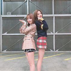 Image may contain: 2 people, outdoor Pledis Entertainment, Starship Entertainment, 3 In One, One Pic, Yuri, My Girl, Cool Girl, Honda, Sakura Miyawaki