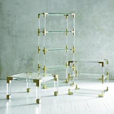 lucite + brass =  : )