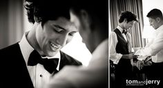 Wedding Photography | Groom shot | Black and White Wedding Photographs - Groom Preparation Photos