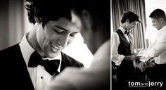 Wedding Photography | Groom shot | Black and White Wedding Photographs - Groom Preparation Photos