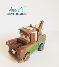Most adorable character from Cars 🤩 Mater Cake, Fondant Toppers, Fondant Figures, Sugar Paste, Wooden Toys, Anna, Cars, Character, Instagram