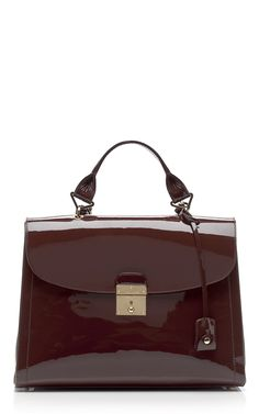 LOVE! Marc Jacobs The 1984 Patent Satchel in Chestnut at Moda Operandi