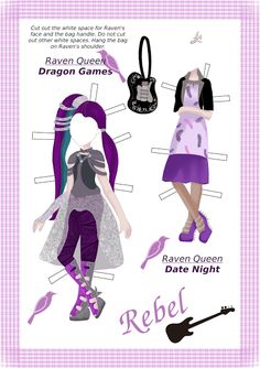 Ever After High Raven Queen Paper Doll 3