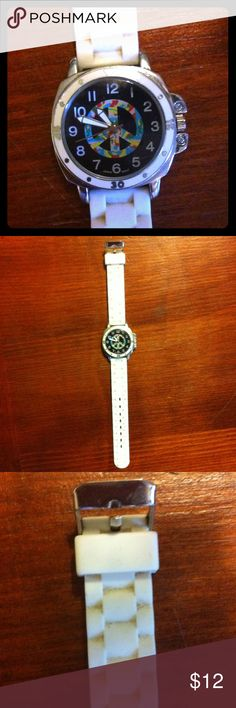 Cute & Funky Old Fashion Watch!!! Funky old fashion watch with white straps! Look fun and old fashion, with this cool watch! Buy today and get cheap prices and 1-3 day shipping! Accessories Watches