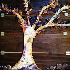 DIY collage tree