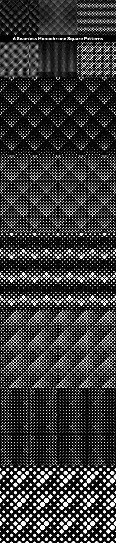 6 Seamless Monochrome Square Patterns #VectorBackground #CheapPattern #vectorbrochure #PremiumVectors #repetitivepattern #repeat #BackgroundBundles #creative #geometric #PatternCollection #zydd #abstractbackground #DiscountBackgrounds #pattern #wallpaper #CheapVectorPatterns #AbstractBackground #sale #PatternCollections Square Patterns, Vector Background, Vector Pattern, Vector Graphics, Pattern Wallpaper, Abstract Backgrounds, Repeat, Monochrome, Illustrator