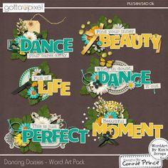 Dancing Daisies - Word Art :: Gotta Pixel Digital Scrapbook Store