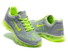 5814591f0e3a Men s Nike Air Max 2011 Men s Running Shoe Neutral Grey   Neon Green .