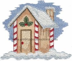 Christmas Victorian Machine Embroidery Design