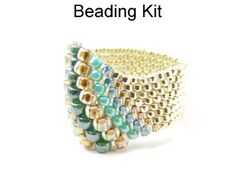 Neptunia Odd Count Peyote Stitch Beaded Ring Tutorial Pattern Beading Kit…