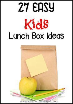 Easy Kids Lunch Box Ideas - 27 Ideas - Addicted 2 Savings 4 U