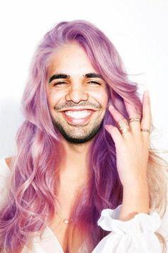 Rock that Purple Hair Aubrey Drake Graham lol