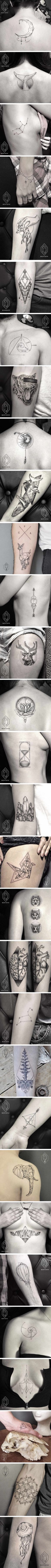 This Artist Creates Geometric Line And Dot Tattoos To Prove Less Is More (Bicem Sinik)