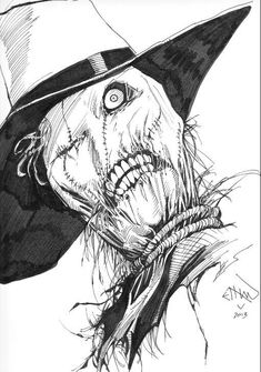 Scarecrow by Ethan Van Sciver Comic Art
