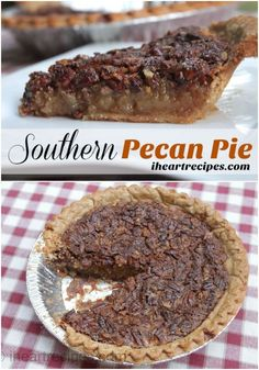 How to easily make the best southern pecan pie EVER! Last holiday season southern pecan pie was my most requested recipe. The problem was, it was requested weeks before Thanksgiving, and for those … Köstliche Desserts, Holiday Desserts, Holiday Recipes, Delicious Desserts, Dessert Recipes, Holiday Ideas, Dinner Recipes, Southern Thanksgiving Recipes, Thanksgiving Treats