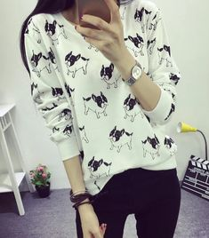 Pet 1, Boston Terrier Love, How To Run Longer, Floral Tops, Short Sleeves, Black And White, Sweatshirts, Cotton, Clothes