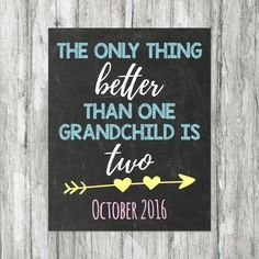 Twins Announcement for Grandparents New by tinyfirststeps on Etsy
