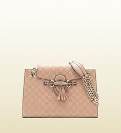 emily antique rose guccissima leather shoulder bag