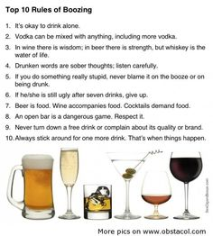 The 10 Rules of Boozing