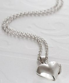 Look what I found on #zulily! Sterling Silver Heart Locket Necklace #zulilyfinds