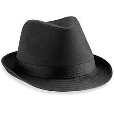 Beechfield Fedora Hut, verschiedene Farben Small / Medium,Schwarz