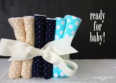 The Homes I Have Made: Terry & Flannel Burp Cloths