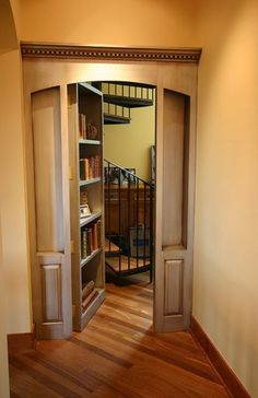 Secret room behind the bookcase - classic. - Click image to find more Architecture Pinterest pins