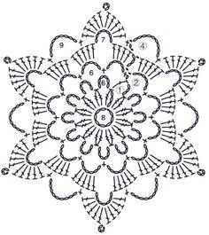 """Śnieżkowy """"Krok po kroku"""" - Her Crochet Crochet Snowflake Pattern, Crochet Motif Patterns, Crochet Stars, Christmas Crochet Patterns, Crochet Snowflakes, Crochet Mandala, Thread Crochet, Crochet Doilies, Crochet Flowers"""