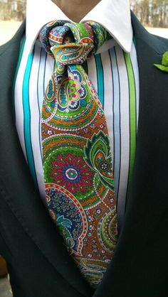 Green Paisley Park Necktie