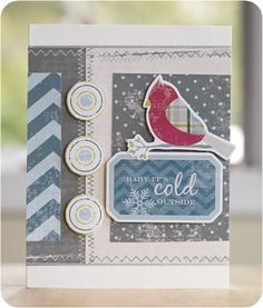 Winter Additions Scrapbooking Card Project Idea from Creative Memories.  reference only - site was taken down 9/30/13