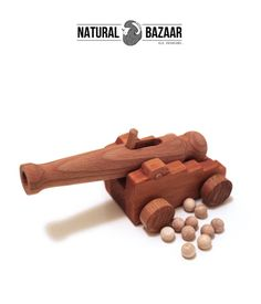 Wooden Toys – t21_Wooden Cannon Finished by Hand / Non Toxic,Eco – a unique product by NaturalBazaar on DaWanda