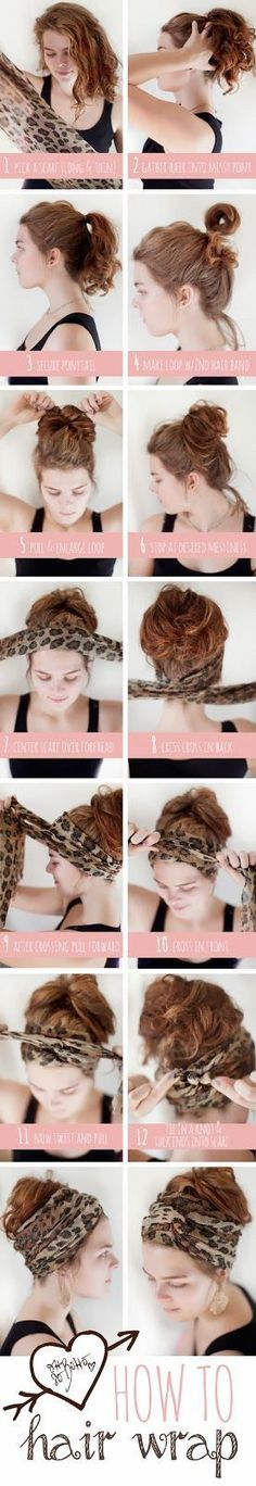 Wear a hair wrap or fashionable turban the right way! Visit Beauty.com for all the best  high-end haircare.