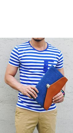 Tops :: Nautical Stripe Slim Pocket-Tee 73 - Mens Fashion Clothing For An Attractive Guy Look