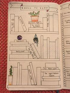 Books to Read, Bullet Journal layout. Do you want to start a bullet journal? Check out these 23 Awesome Bullet Journal Ideas to Get You Motivated!
