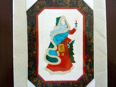 Father Christmas - Michele O'Neil Kincaid Designs - Vintage Quilt Applique Pattern - Christmas Decor Wall Hanging - UNCUT