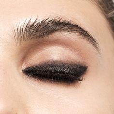 The perfect smudgy smoky eye for the holiday season--get it with our Magic Smoky Powder Shadow Stick in Burnt Black