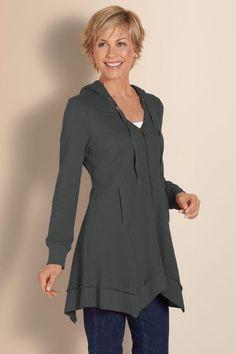 Sunrise Hoodie - French Terry Hoodie, Womens Hoodie Sweatshirt, Ladies Zipper Hoodie   Soft Surroundings